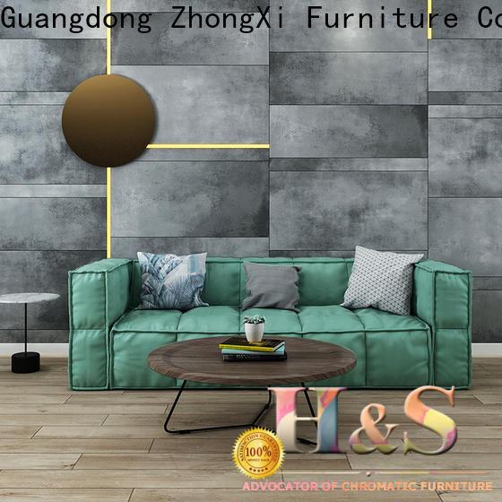 HS brown tweed sofa Suppliers