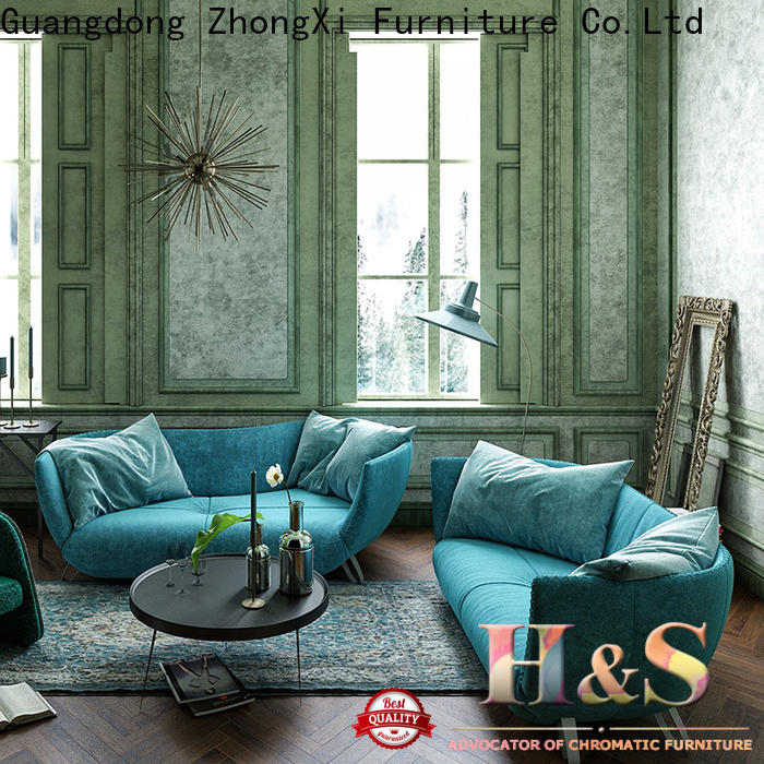 HS custom grey and brown sofa manufacturer