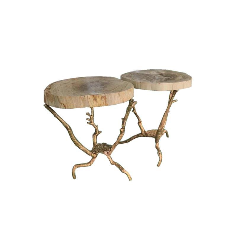 Copper-Root Side Table Contemporary Side Table