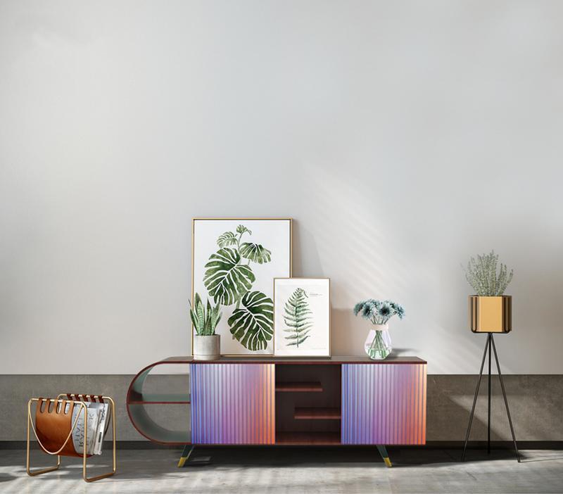 Designer custom - made solid wood TV cabinet