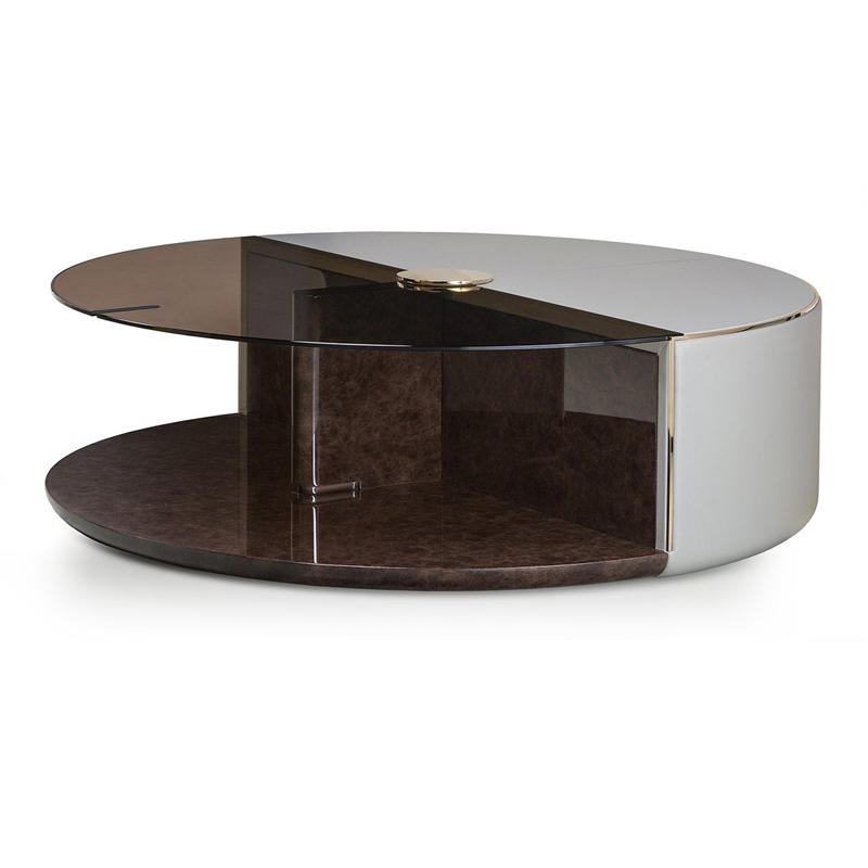 Italian light luxury post - modern simple minimalist round custom tea table HS-CJ-8201