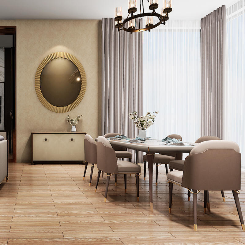 Italian light luxury full house custom modern simple dining table HS-CZ-8803
