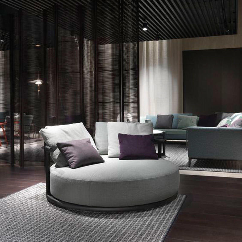 Creative round simple cloth sofa HS-D2003