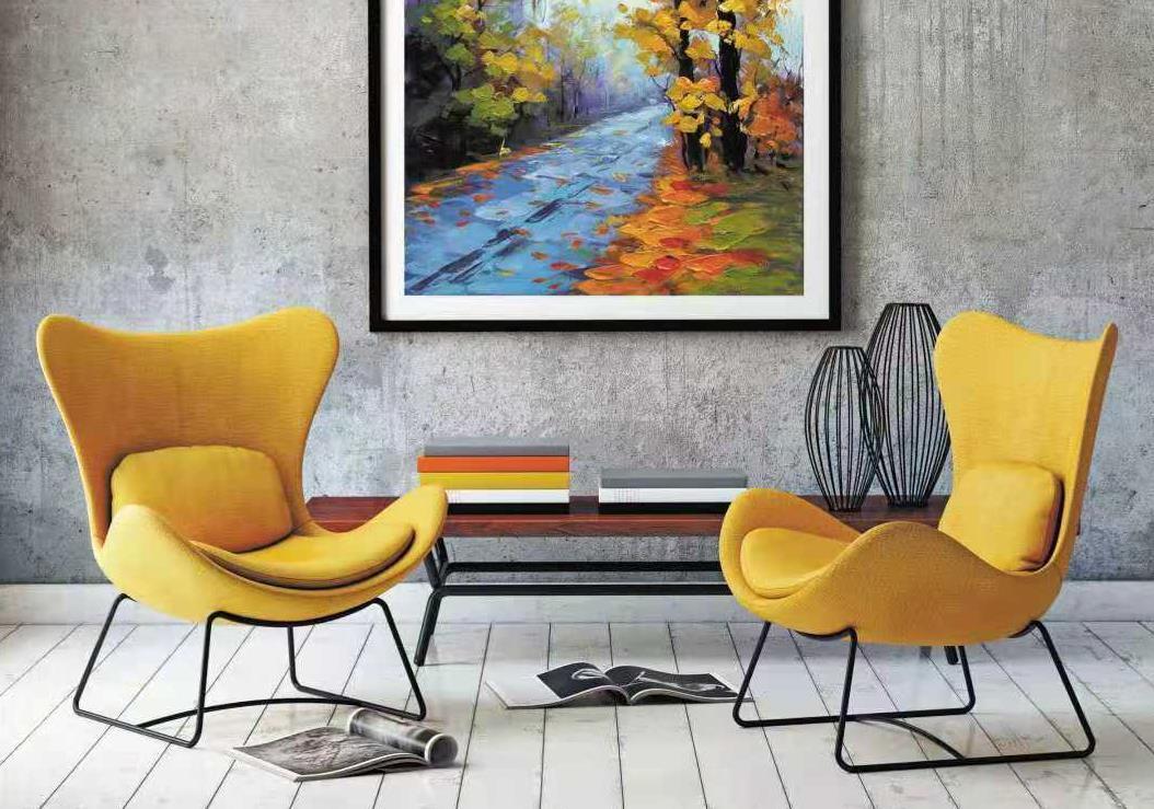 Single sofa chair cloth art leisure chair HS-Z542