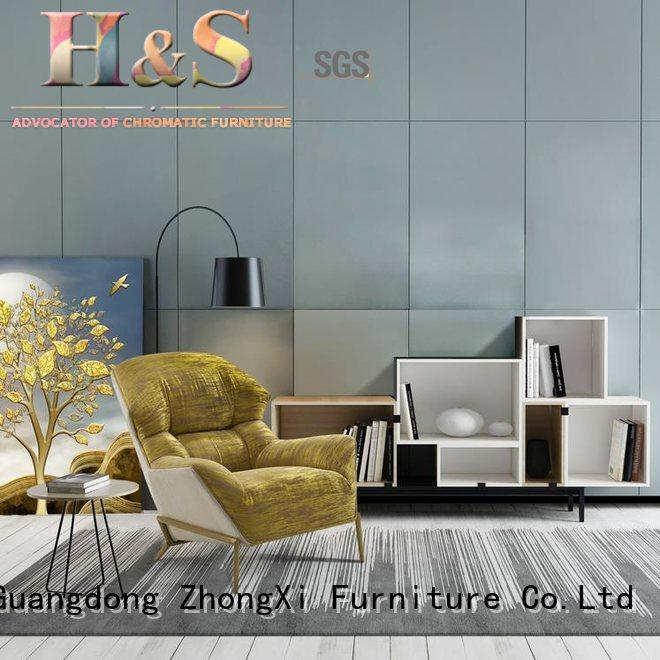 HS Latest armless upholstered accent chairs manufacturer
