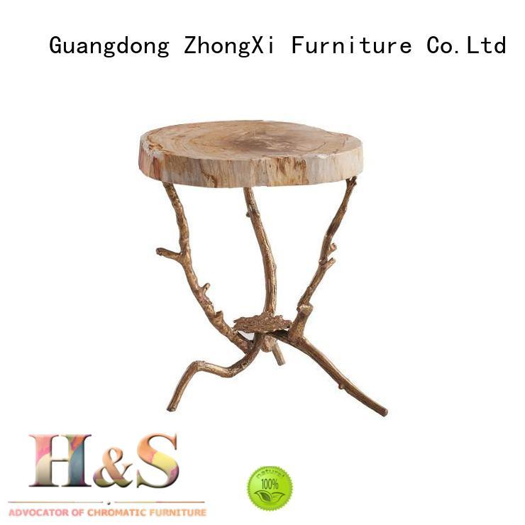 HS contemporary side table factory dining room