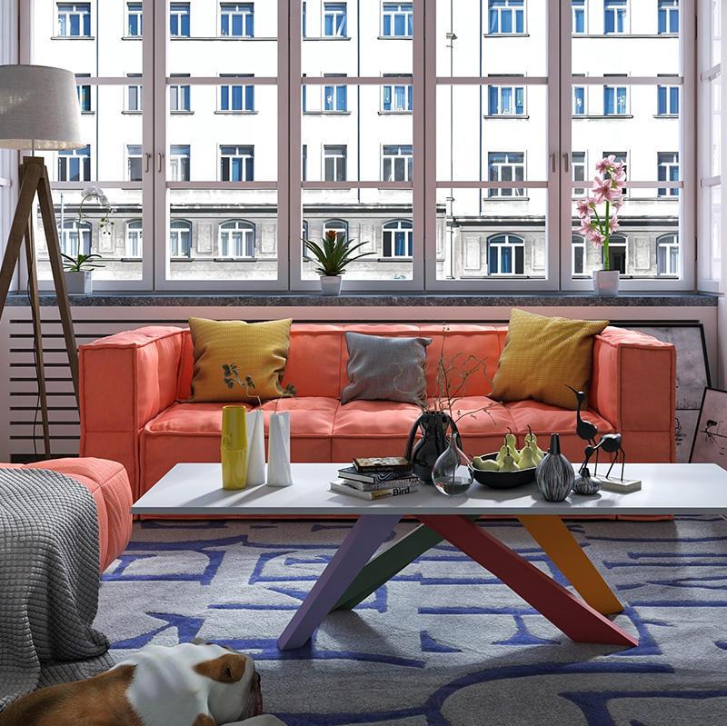 Sugar-Cube Living Room Furniture Sofa
