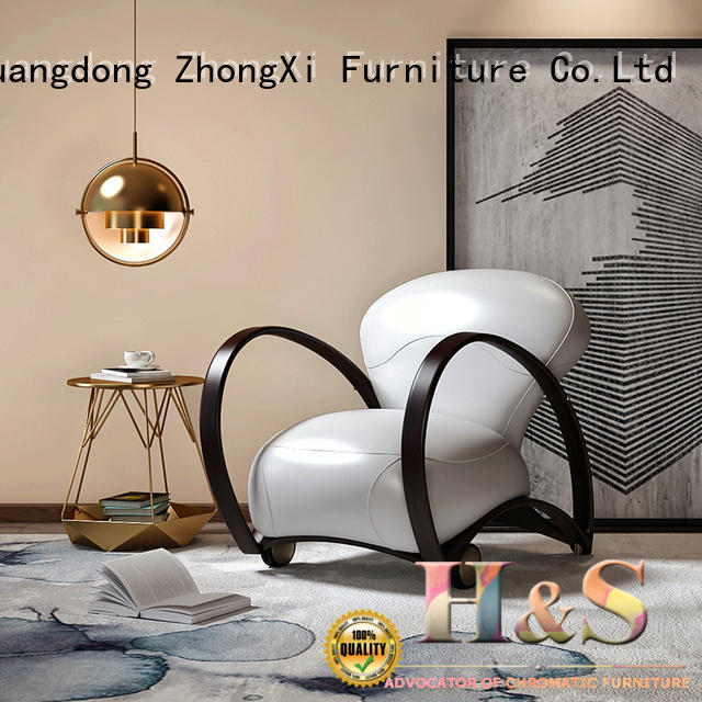HS blue and white accent chair manufacturers at home