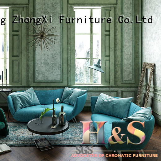 new brown fabric sofa space dining room